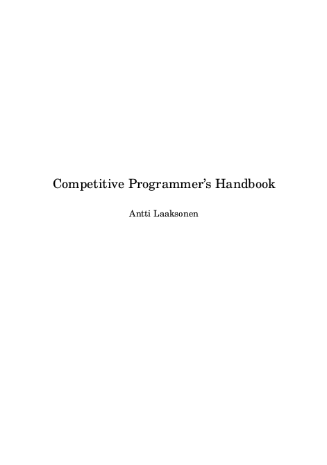Competitive programming books